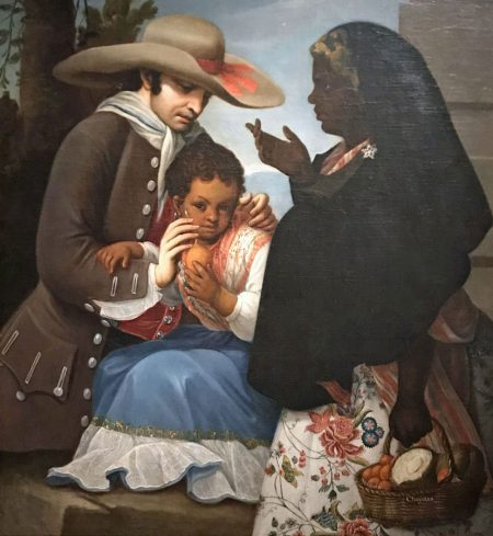 A painting of a mixed race family in colonial Mexico, New Spain
